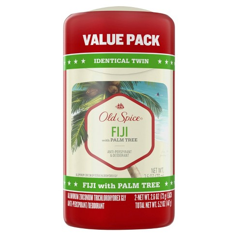 Old Spice Invisible Solid Antiperspirant & Deodorant for Men Fiji with Palm Tree Scent Inspired by Nature - 2.6oz/2pk - image 1 of 4