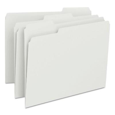 Smead File Folders 1/3 Cut Top Tab Letter White 100/Box 12843