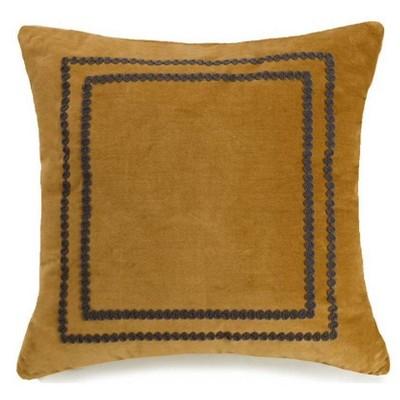 "Ayesha Curry Asher 18"" x 18"" Yarn Crewel Throw Pillow Gold"