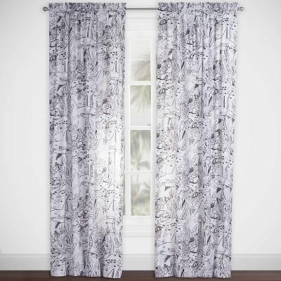 Shark Journey Hidden Pictures Rod Pocket Curtain Panel - Highlights