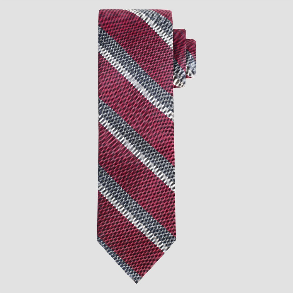 Men's Striped Ceasar Tie - Goodfellow & Co Raspberry One Size