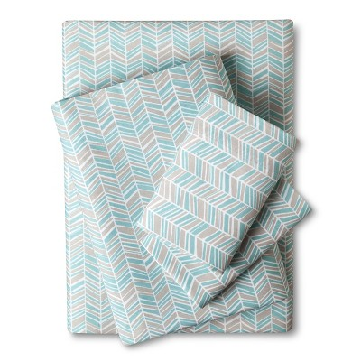 Easy Care Sheet Set (Full)Turquoise Chevron - Room Essentials™