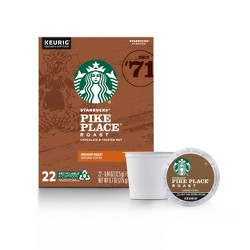 Starbucks Pike Place Medium Roast Coffee - Keurig K-Cup Pods - 22ct