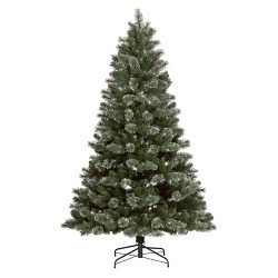 7.5ft Pre-lit Full Virginia Pine Auto Connect Warm White Garland LED Lights Artificial Christmas Tree - Wondershop™
