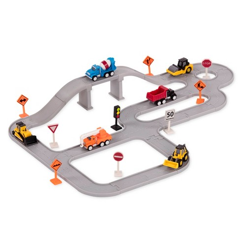 DRIVEN – Track Playset with Toy Trucks – Construction Crew (57pc) – Pocket Series - image 1 of 4