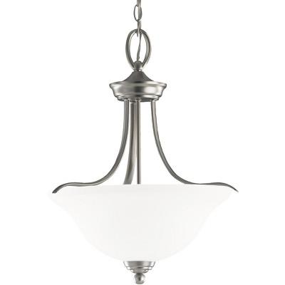 "Sea Gull Lighting Wheaton 3-Light 17"" Brushed Nickel Transitional Pendant"