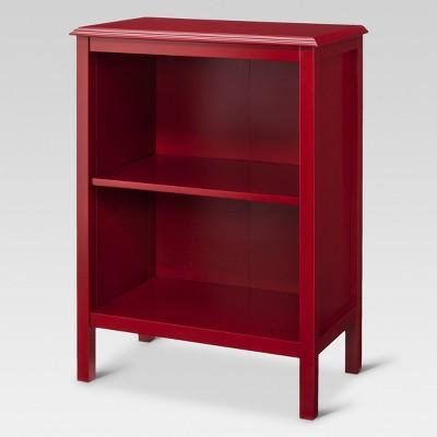 windham 30 25 2 shelf bookcase red threshold target rh target com