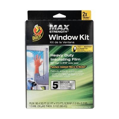 """Duck 62""""X210"""" 5pk Max Strength Indoor Window Film"""