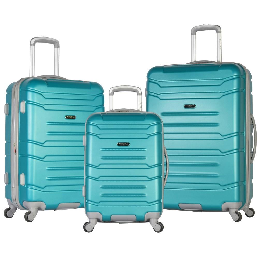 Image of Olympia USA Denmark 3pc Luggage Set - Teal, Blue