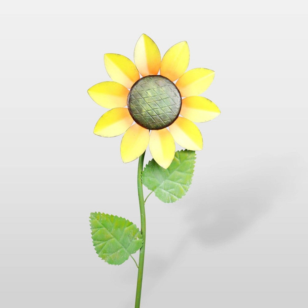 "Image of ""63""""x16"""" Spring Festive Blooming Metal Sunflower Garden Stake - Alpine Corporation"""