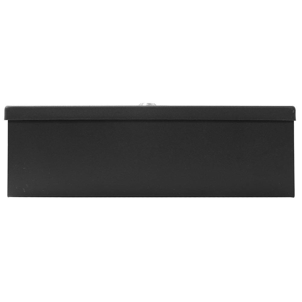 Image of Honeywell Large Steel Security Cash Box, Black