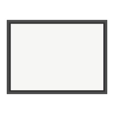 """U Brands 24""""x18"""" Magnetic Dry Erase Board Black MDF Frame"""