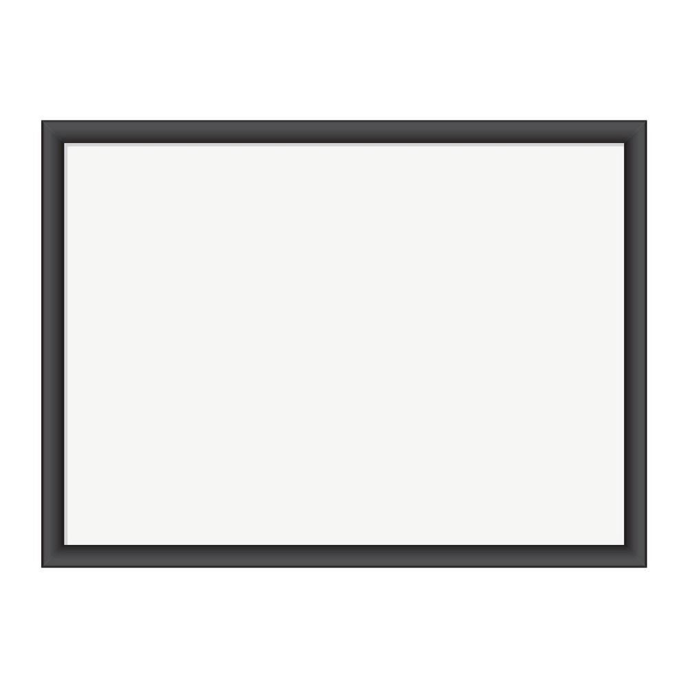 """Compare U Brands 24""""x18"""" Magnetic Dry Erase Board Black MDF Frame"""