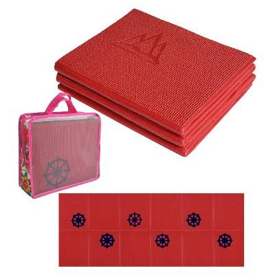 Khataland Folding Kids' Yoga Mat - Cherry Red (6mm)