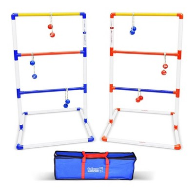 GoSports Premium Ladder Toss Game with 6 Bolo Balls and Portable Travel Carrying Case Outdoor Backyard Lawn Game