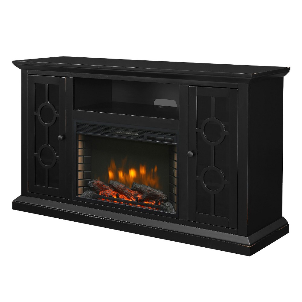 "Image of ""Ashby 58"""" Media Electric Fireplace Aged Black - Muskoka"""