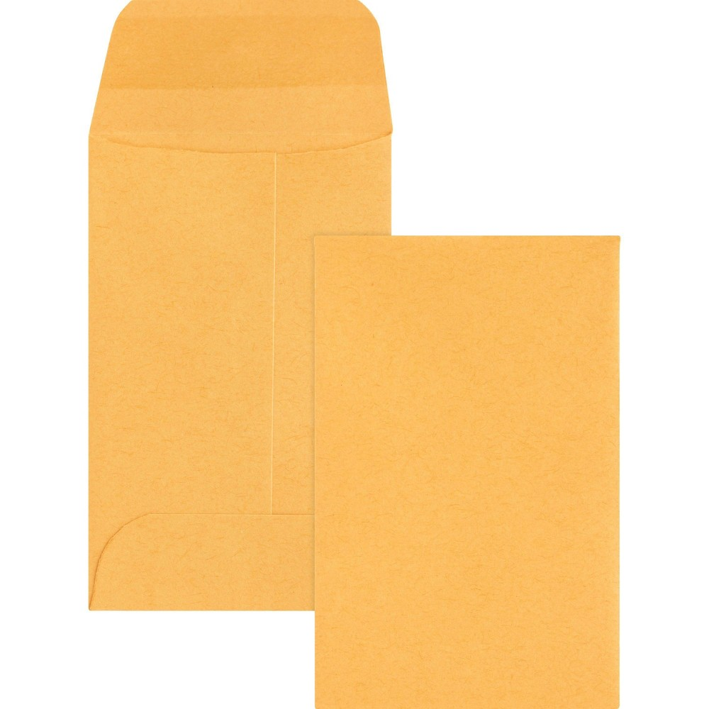 Business Source 500ct Small Coin Kraft Envelopes