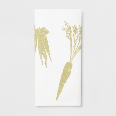 28 x18  Veggies Flat Weave Kitchen Towel White - Threshold™