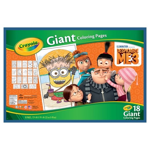 Crayola Giant Coloring Pages Despicable Me Target