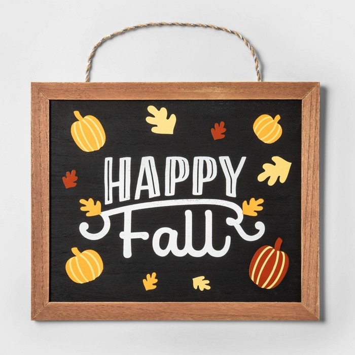Happy Fall Hanging Wood Sign - Spritz™ - image 1 of 1