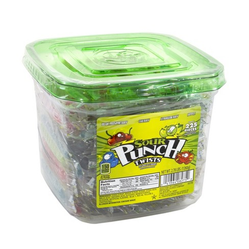 Sour Punch Twists Assorted Flavors Chewy Candy - 2.7lbs/225ct - image 1 of 2