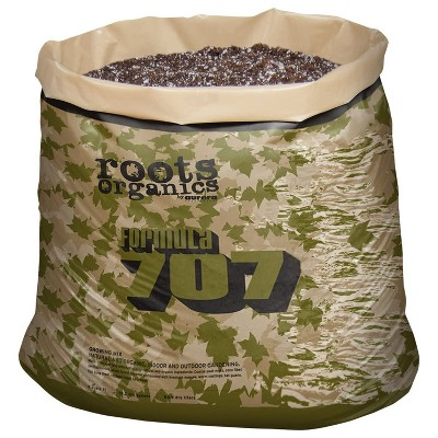 Roots Organic Formula 707 Growing Mix Peat, Compost, Coco Lawn Garden Large Container Water Retention Potting Soil in 30 Gallon Grow Bag, 3 Cubic Feet