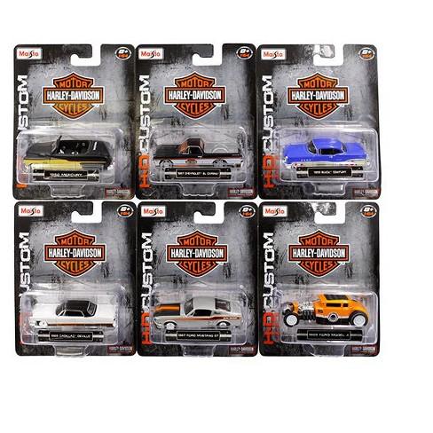 Harley Davidson Ortment Wave 2 6 Cars Set 1 64 Cast Model By Maisto Target