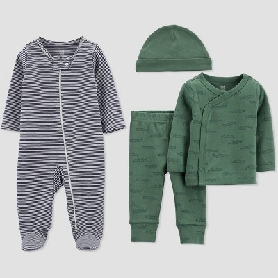Baby Boys' 4pc Alligator Print Pajama Set - Just One You® made by carter's Green/Blue Newborn