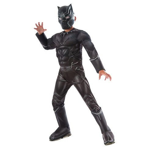 Captain America: Civil War Deluxe Boys' Black Panther Costume - image 1 of 1