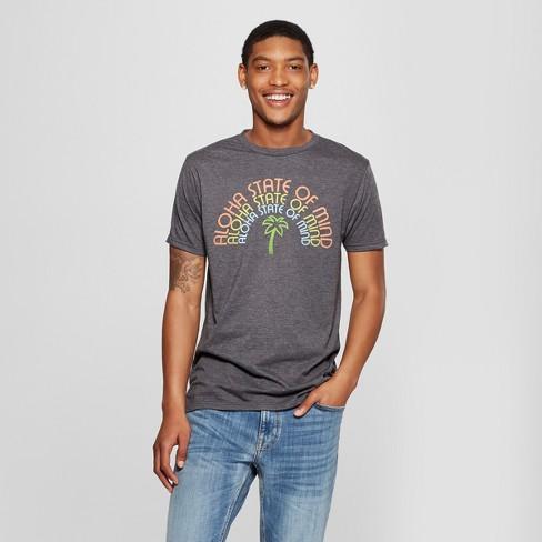 d41d5236 Men's Aloha State of Mind Graphic Short Sleeve T-Shirt - Awake Charcoal