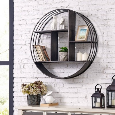 Brody Industrial Circular Shelf Gray - Firstime & Co.
