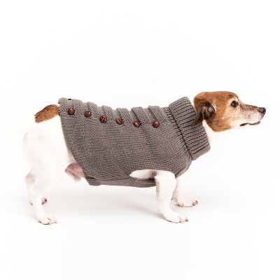 Royal Animals Dog and Cat Turtleneck Sweater - Gray - S