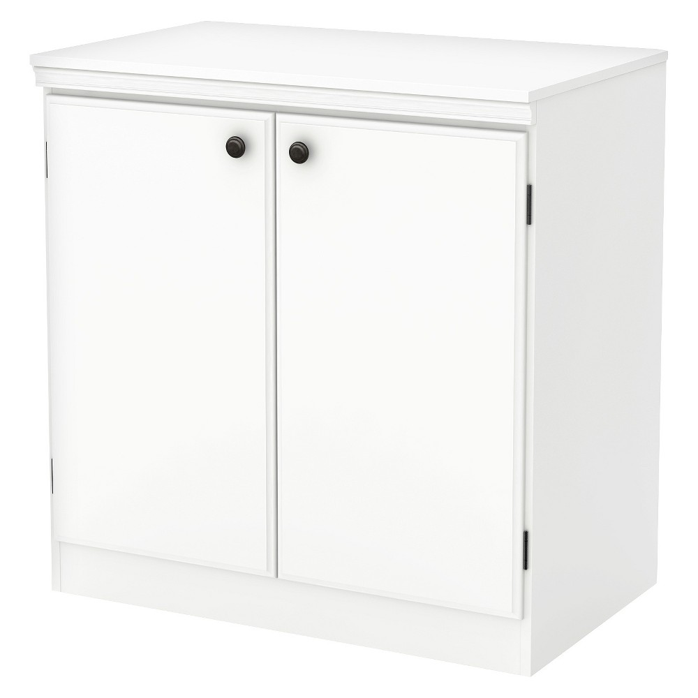 Morgan 2 Door Storage Cabinet Pure White - South Shore