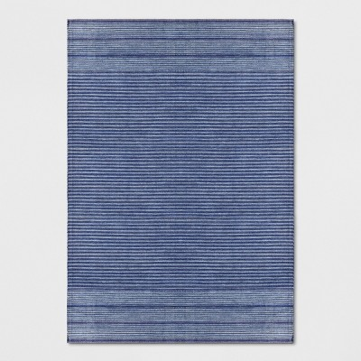 Blue Stripe Woven Area Rug 7'X10' - Threshold™