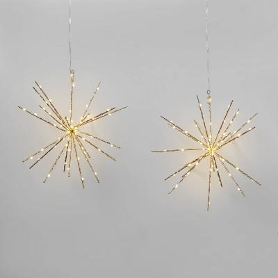 2pk Christmas LED Starburst Novelty Sculpture with 140 Twinkle Lights White - Wondershop™