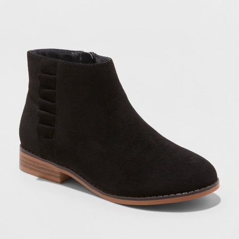 92316b1b8 Girls' Euna Ankle Boots - Cat & Jack™ Black 13 : Target