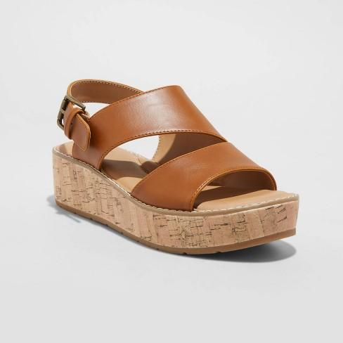 Women's Brenda Cork Platform Sandals - Universal Thread™ - image 1 of 4