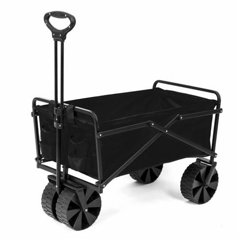 Seina Manual 150 Pound Capacity Folding Utility Beach Wagon Outdoor Cart, Black - image 1 of 3