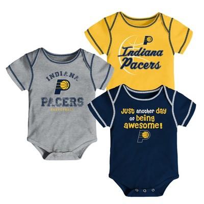 Indiana Pacers Baby Boys' 3pk Bodysuit Set 0-3 M