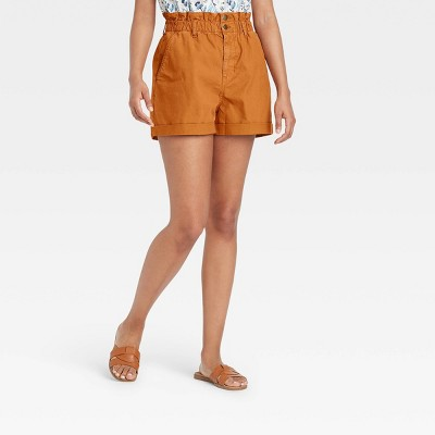 Women's High-Rise Jean Shorts - Universal Thread™ Tan
