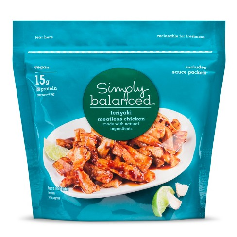Teriyaki Meatless Frozen Chicken - 9oz - Simply Balanced™ - image 1 of 1