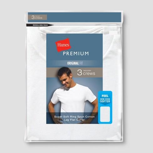 Hanes Premium® Men's Tall T-Shirt - White XLT - image 1 of 1