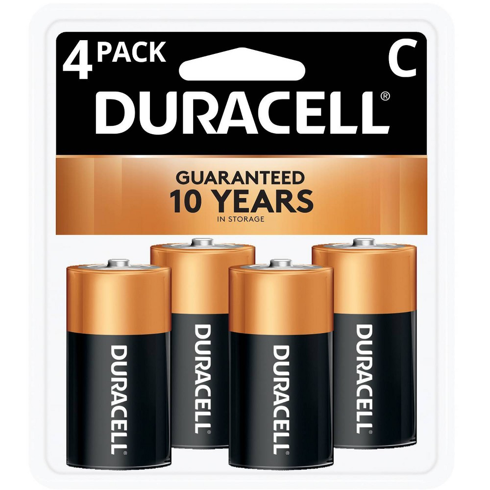 Duracell Coppertop C Batteries 4 Pack Alkaline Battery
