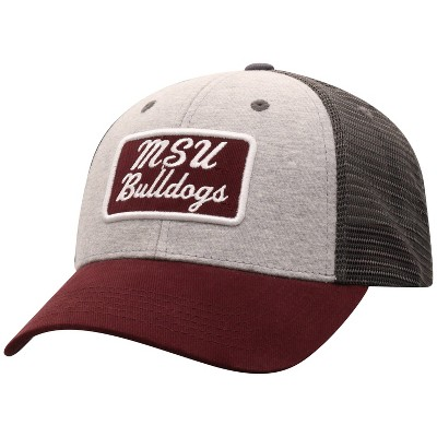 NCAA Mississippi State Bulldogs Men's Gray Cotton with Mesh Snapback Hat