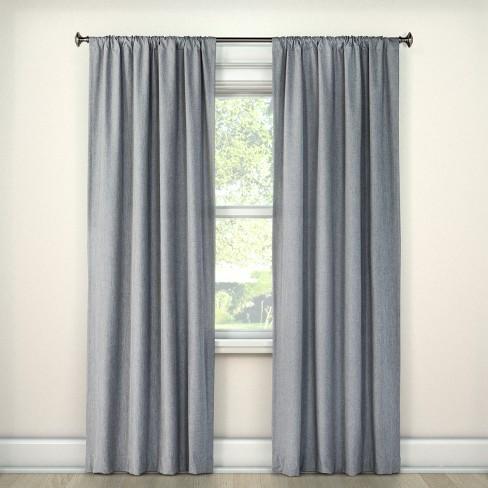63 X42 Heathered Thermal Room Darkening Curtain Panel Gray Room Essentials Target