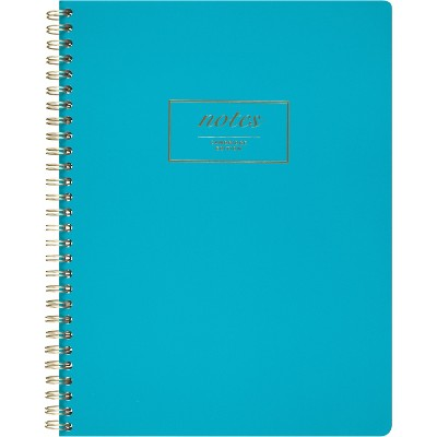 Cambridge Fashion Twinwire Business Notebook 9 1/2 x 7 1/4 Teal 80 Sheets 49587