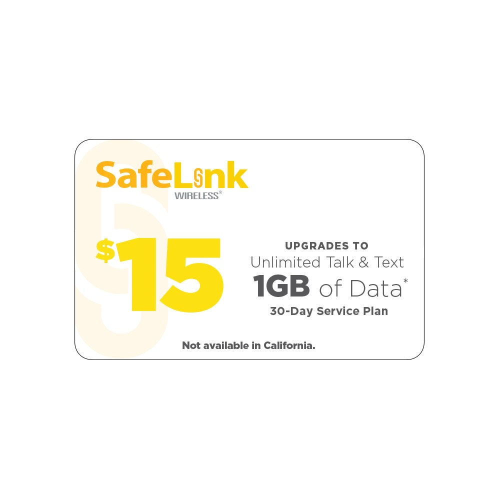 SafeLink Wireless $15 (Email Delivery)