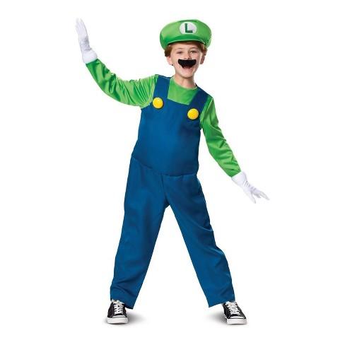 Boys' Super Mario Bros. Luigi Deluxe Halloween Costume M - image 1 of 1