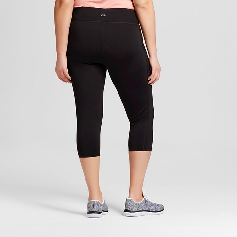 11b6b629b787b8 Women's Plus-Size Embrace Capri Leggings - C9 Champion® Black : Target
