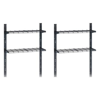 Suncast Outdoor Storage Shed Shelf Kit for Sierra & Everett Shed, Gray (2 Pack)